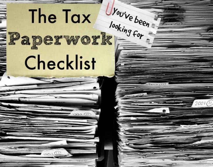 Dennis Fritz's Tax Paperwork Checklist