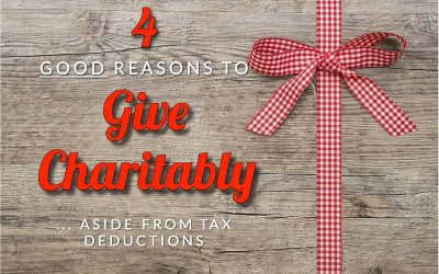 Fritz's Four Good Reasons To Give Charitably, Aside From Tax Deductions